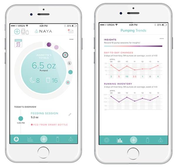 smartphone app screens